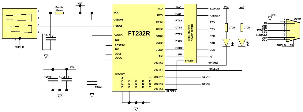 схема переходника USB COM